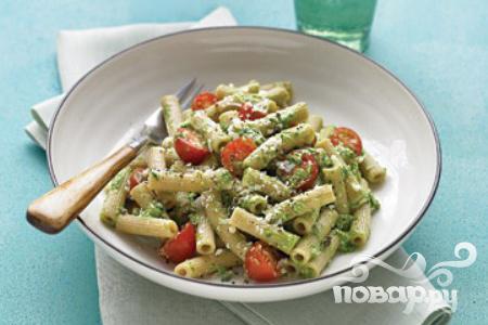 Рецепт Паста с помидорами и соусом Песто