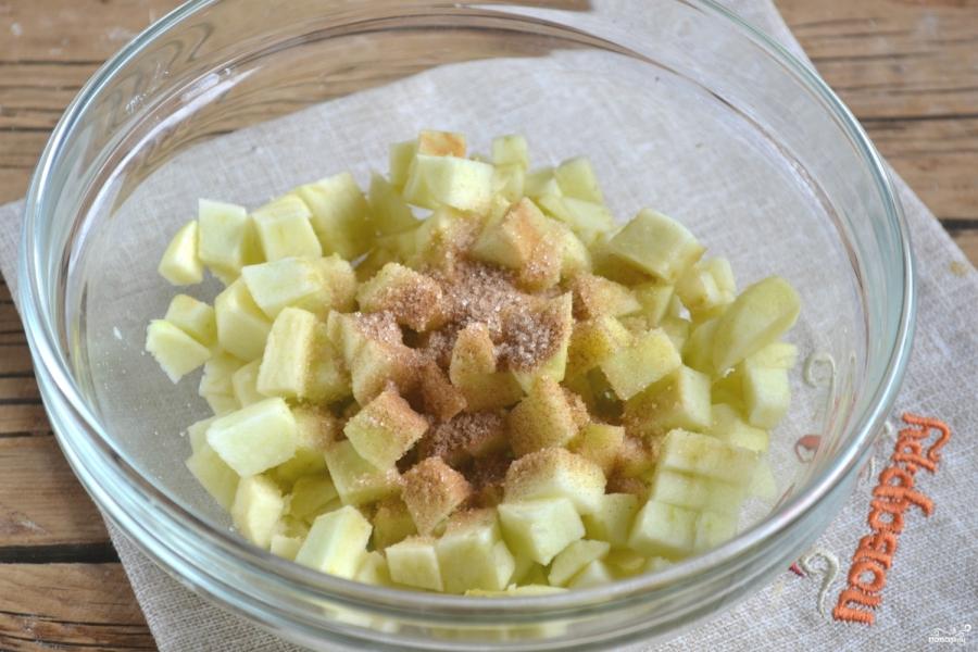 Яблочный пирог из слоеного теста - фото шаг 3