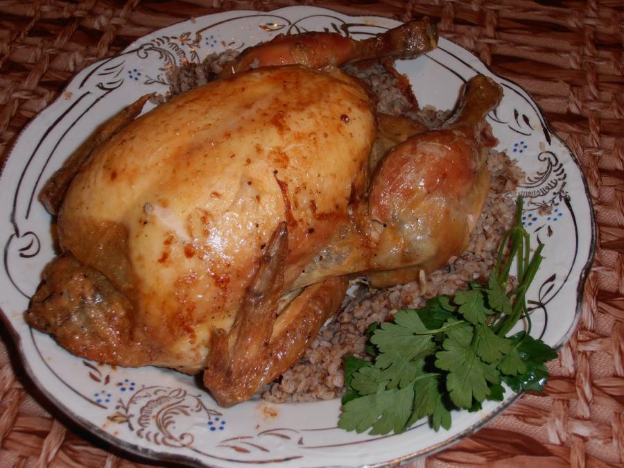 Курица, фаршированная гречкой - фото шаг 6