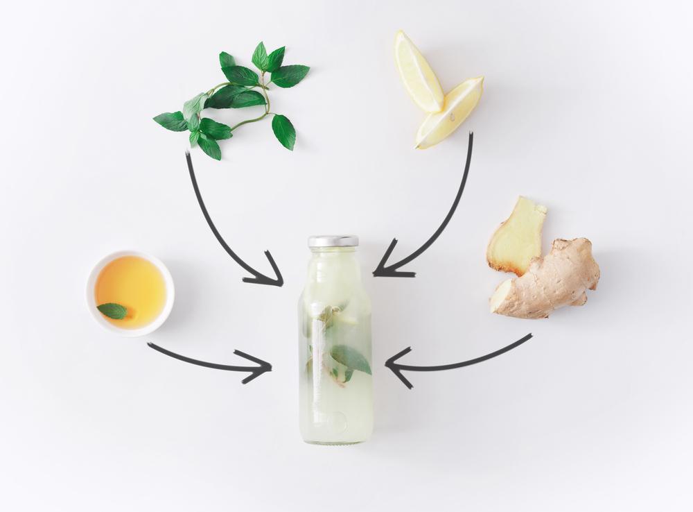 Имбирный лимонад из имбиря, лимона, мяты и меда