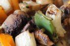 Шашлык из шампиньонов на мангале