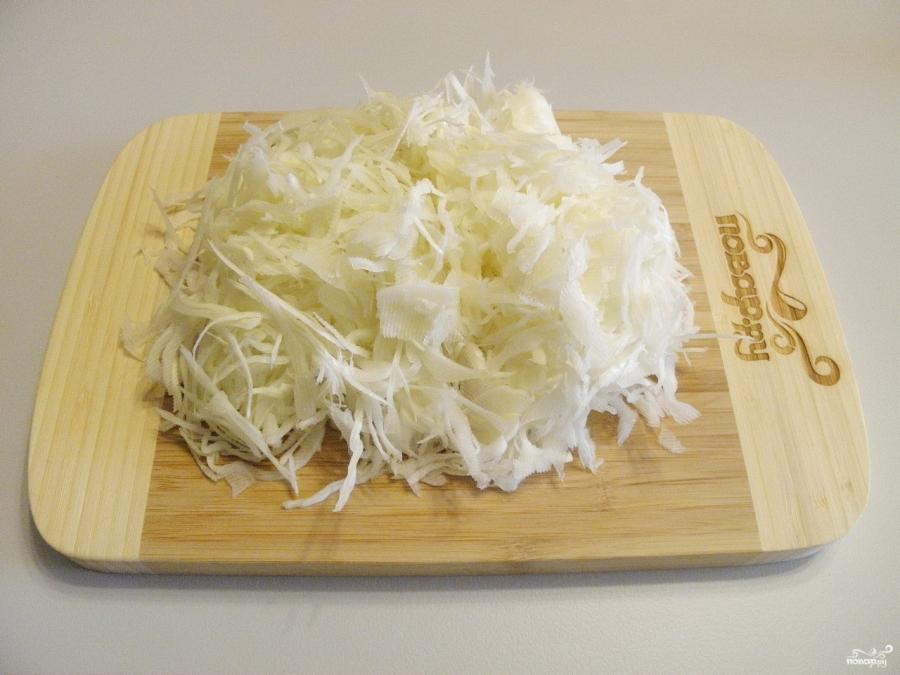 Солянка из свежей капусты с грибами - фото шаг 2