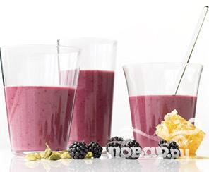 Рецепт Ежевичный йогурт