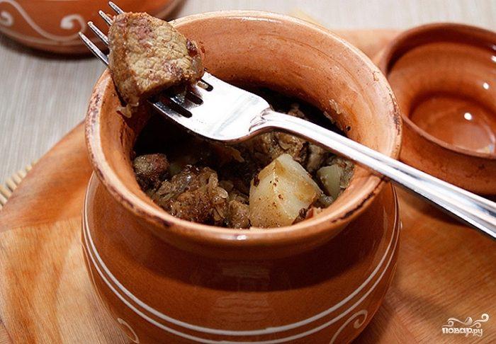 Рецепт Картофель в горшочках со свининой