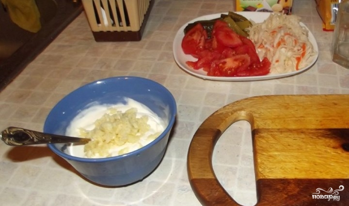 Белый соус для шаурмы - фото шаг 2
