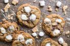 Песочное печенье с шоколадом и маршмеллоу