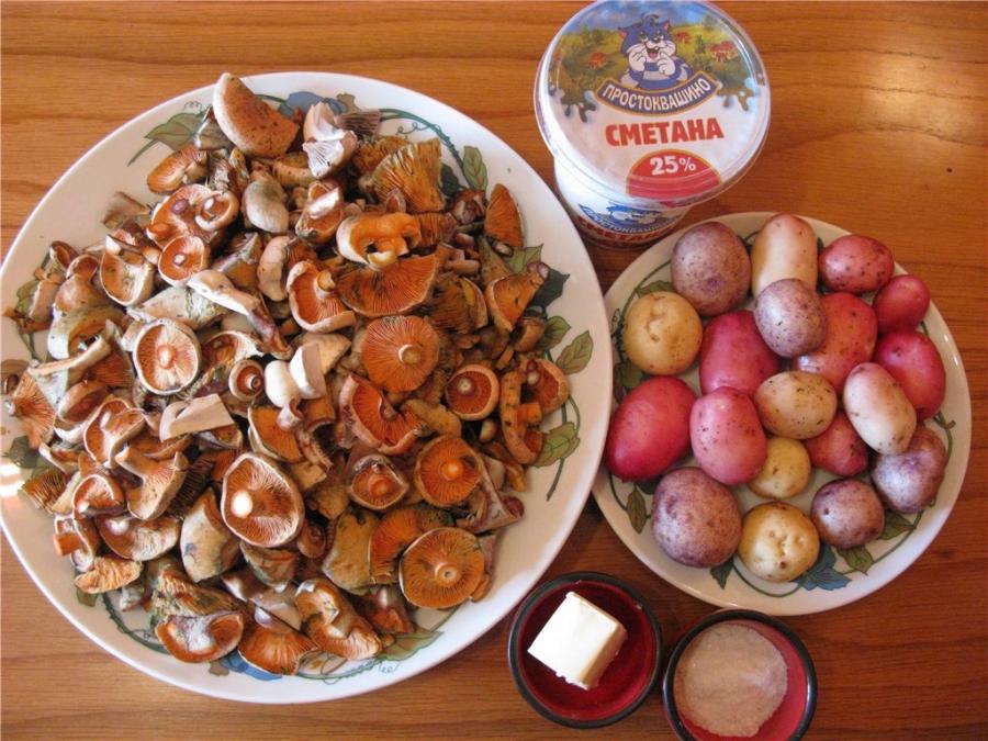 рыжики пошаговый рецепт с картинками