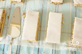 Рецепт Бисквитное сметанное пирожное с помадкой