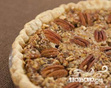 Рецепт Английский пирог с орехами и карамелью