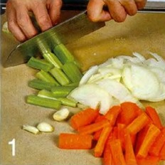 Марокканское рагу с колбасками - фото шаг 1
