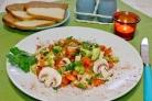 Вегетарианский салат с авокадо
