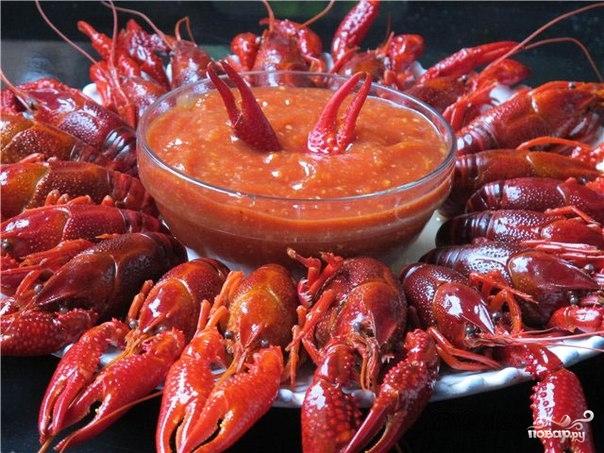Раки в томатном соусе