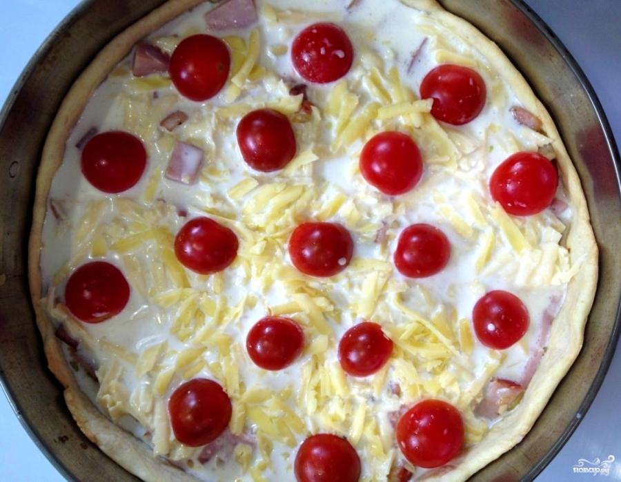 Киш с томатами и моцареллой - фото шаг 4