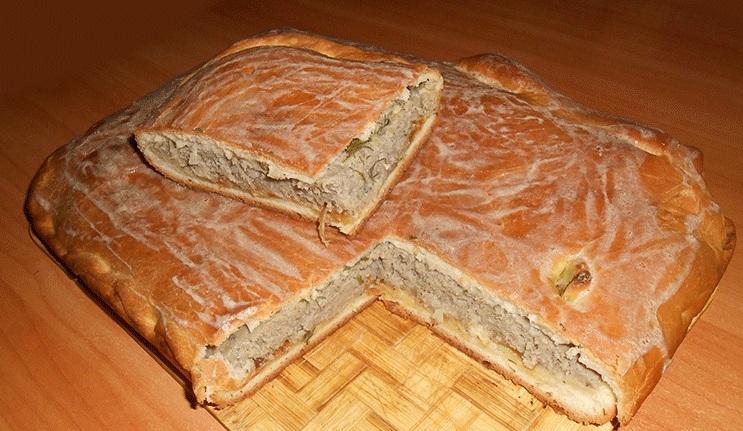 Пирог с рыбным фаршем - фото шаг 6