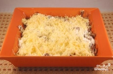 Шампиньоны с сыром в духовке - фото шаг 4