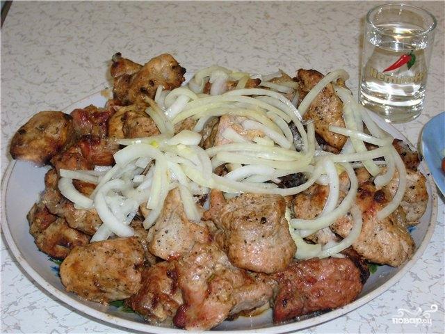 рецепт шашлыка с луком