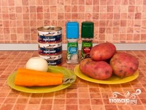 Рецепт Суп из консервированной горбуши