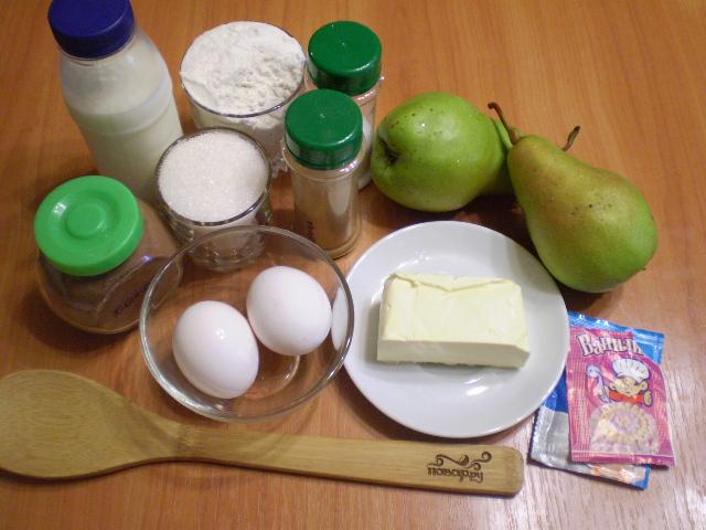Открытый пирог с грушами - фото шаг 1