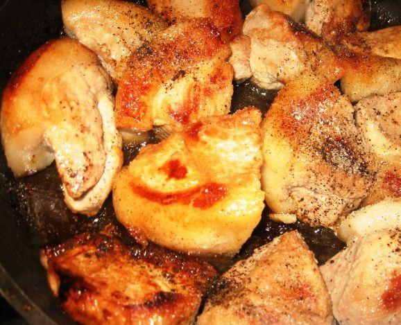 Рецепт Свинина, запеченная с баклажанами в духовке