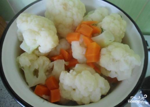 Цветная капуста запеченная в духовке с яйцом - фото шаг 3