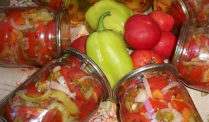 "Салат из помидоров на зиму ""Пальчики оближешь"" - фото шаг 10"