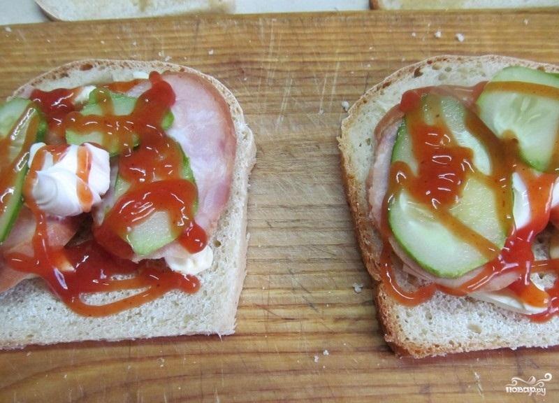 Горячие бутерброды в бутерброднице - фото шаг 2