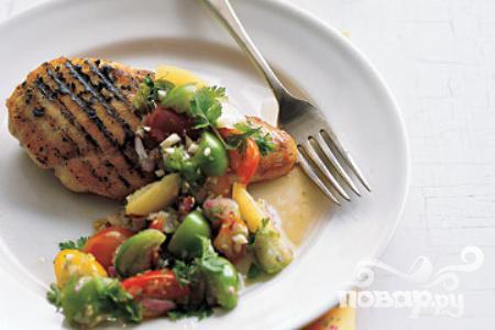 Рецепт Курица с томатной сальсой