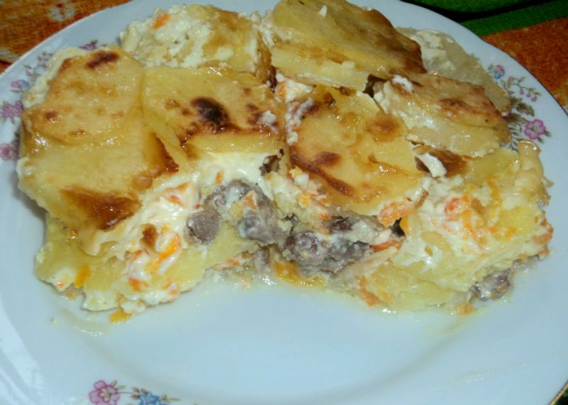 Баранина с картошкой в духовке - фото шаг 8