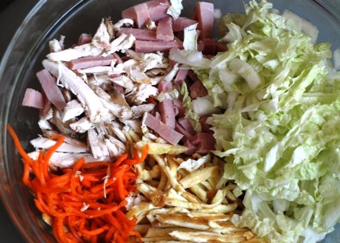Салаты с морковкой по-корейски и ветчиной рецепты с