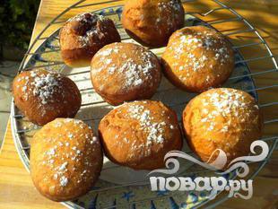 Пончики с джемом - фото шаг 7