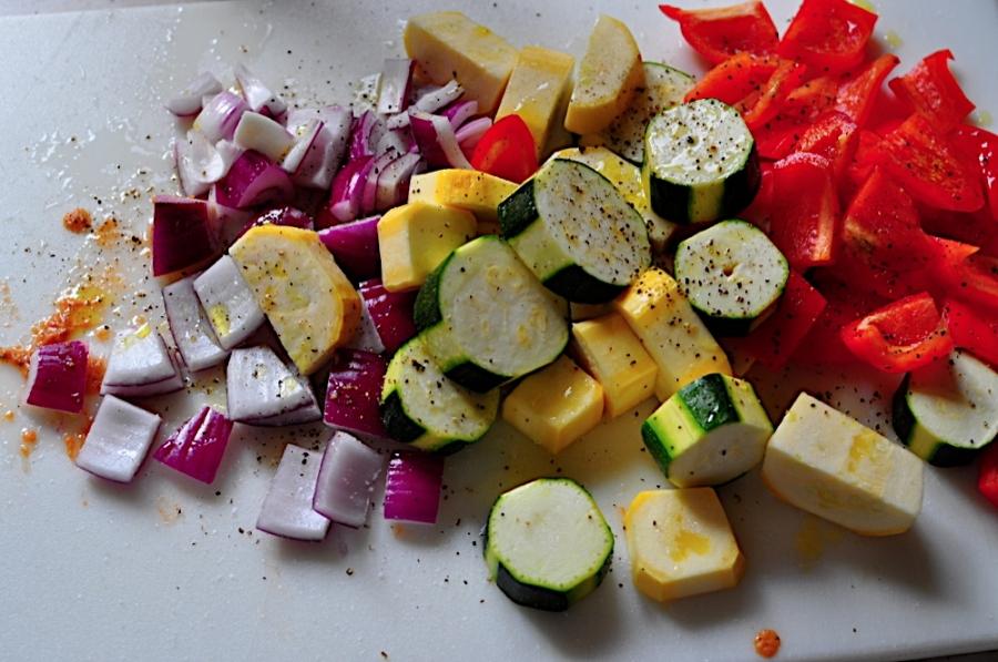 Шашлык из овощей - фото шаг 2