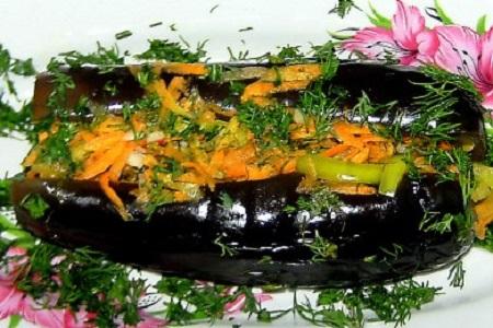 Синенькие с морковкой и чесноком - фото шаг 7