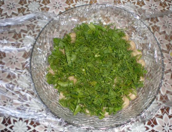 """Рецепт Салат """"Лукошко с грибами"""""""