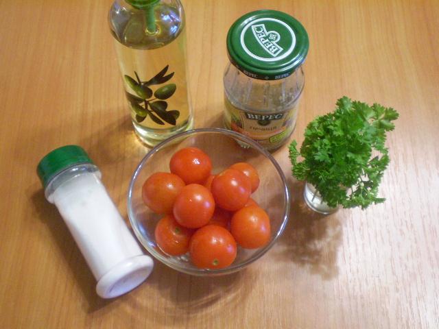 Рецепт Помидоры кусочками с зеленью