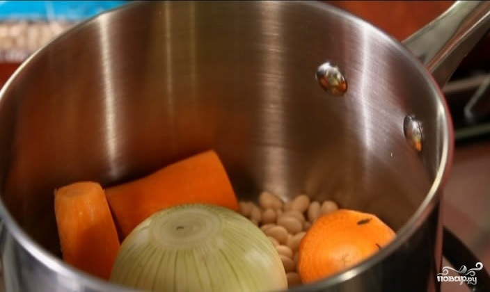 Теплый салат с фасолью - фото шаг 4