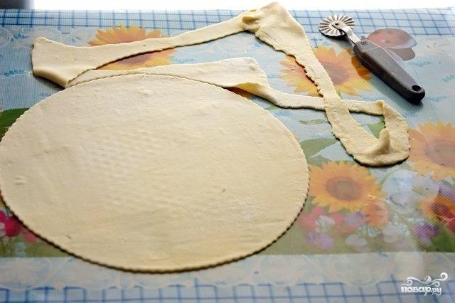 Торт из готового слоеного теста - фото шаг 2