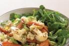Салат с крупой и жареными овощами