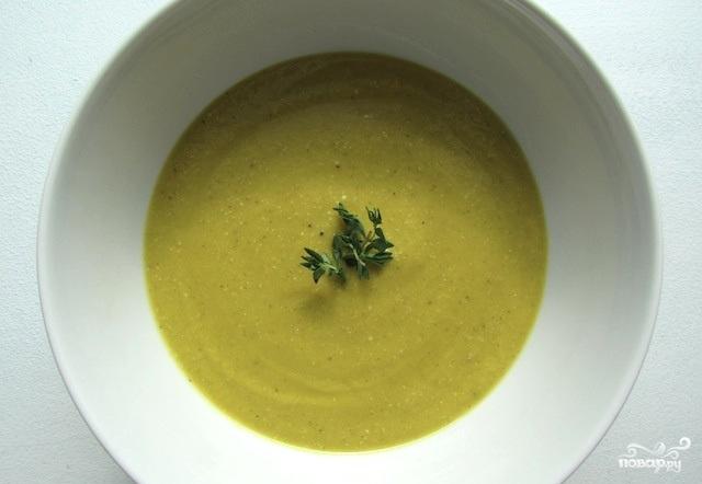 Вегетарианский суп-пюре из брокколи
