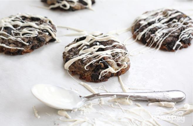 Шоколадно-сливочное печенье - фото шаг 5