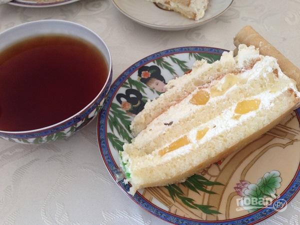 Бисквитный торт с лимонным вкусом