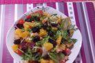 Салат из курицы с апельсинами