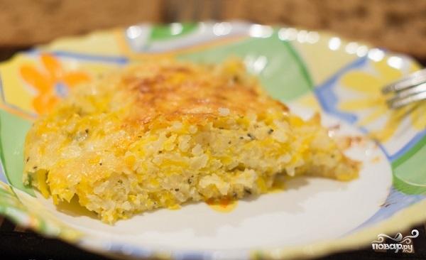 Рецепт Пирог с тыквой и рисом