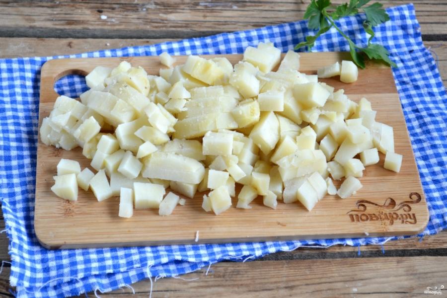 Вегетарианский салат с шампиньонами - фото шаг 3