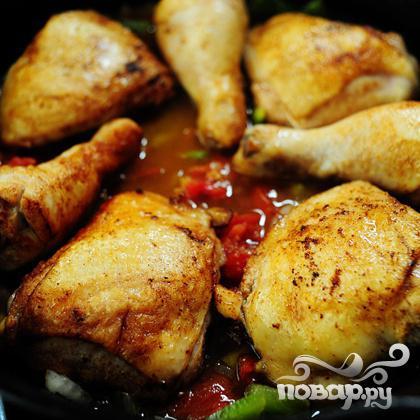 Курица с оливками - фото шаг 15