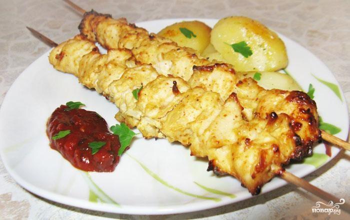 шашлык в духовке на шампурах рецепт с фото