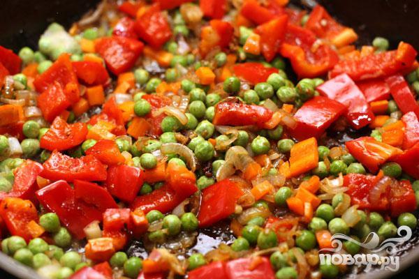 Рис со свининой, омлетом и овощами - фото шаг 5