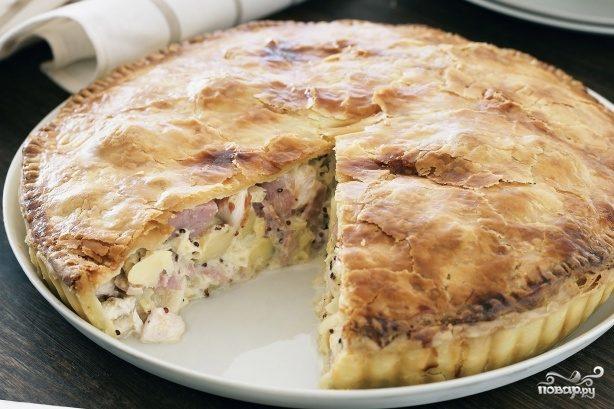 Рецепт Курник с картошкой и курицей