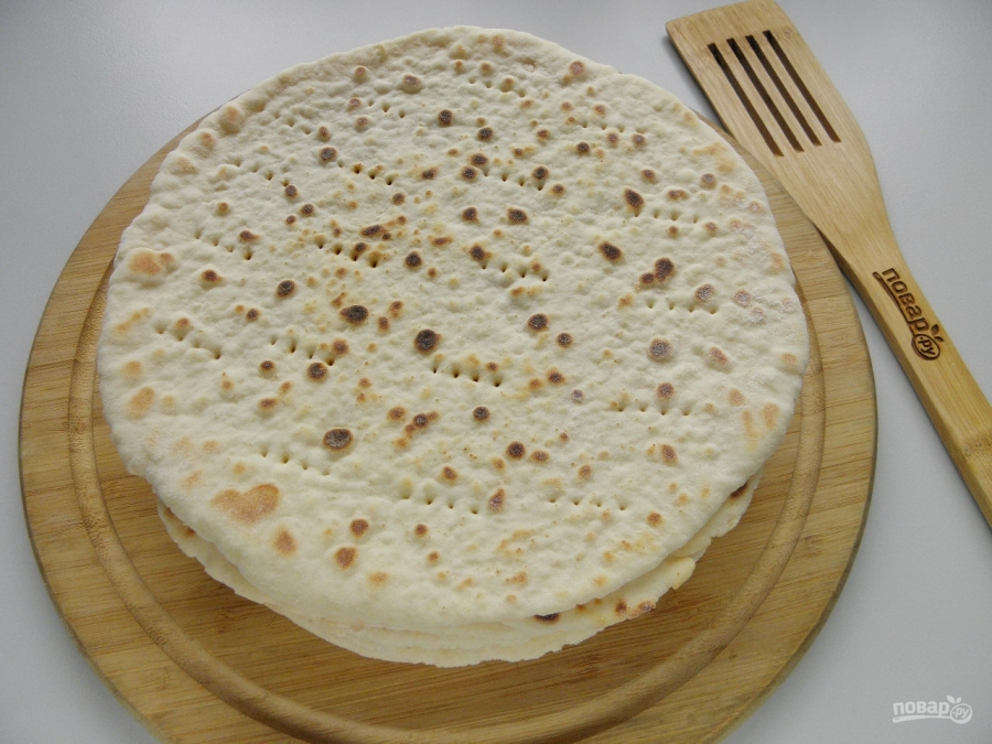 Быстрый торт на сковороде со сгущенкой - фото шаг 7