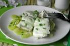 Пангасиус в духовке в сметане