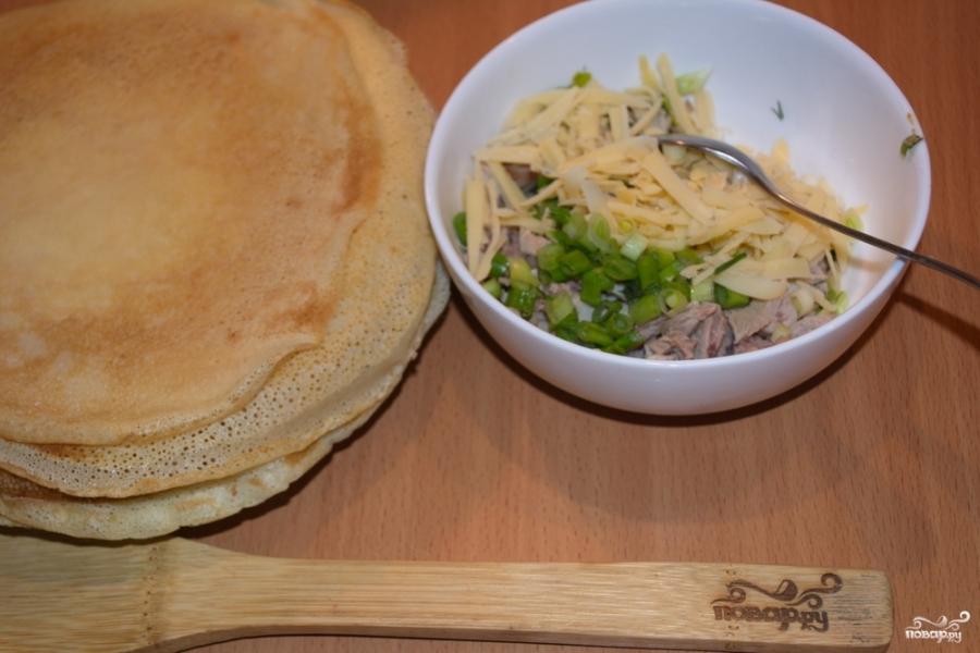 Закуска с блинами - фото шаг 6